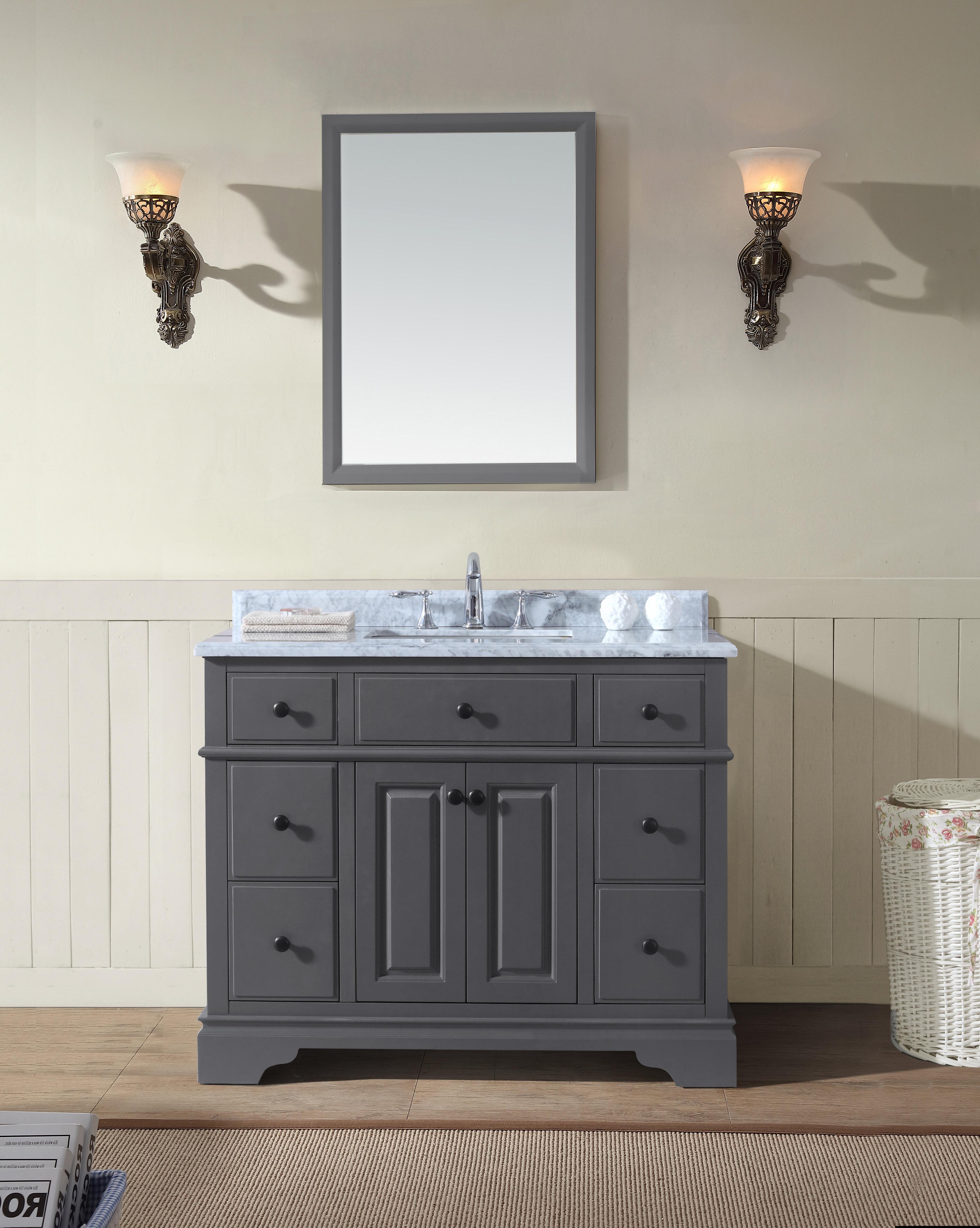 Sets bathroom vanity ari kitchen second - Ari Kitchen Bath Chela 42 Single Bathroom Vanity Set Reviews Wayfair