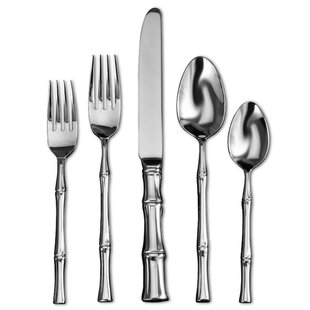 Bamboo Satin 20 Piece 18/10 Stainless Steel Flatware Set, Service for 4