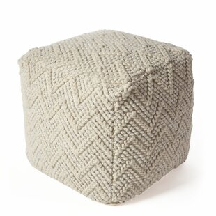 Holley Chevron Cable Pouf by Gracie Oaks
