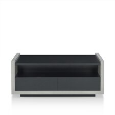 Maryl Contemporary Coffee Table with Magazine Rack by Enitial Lab