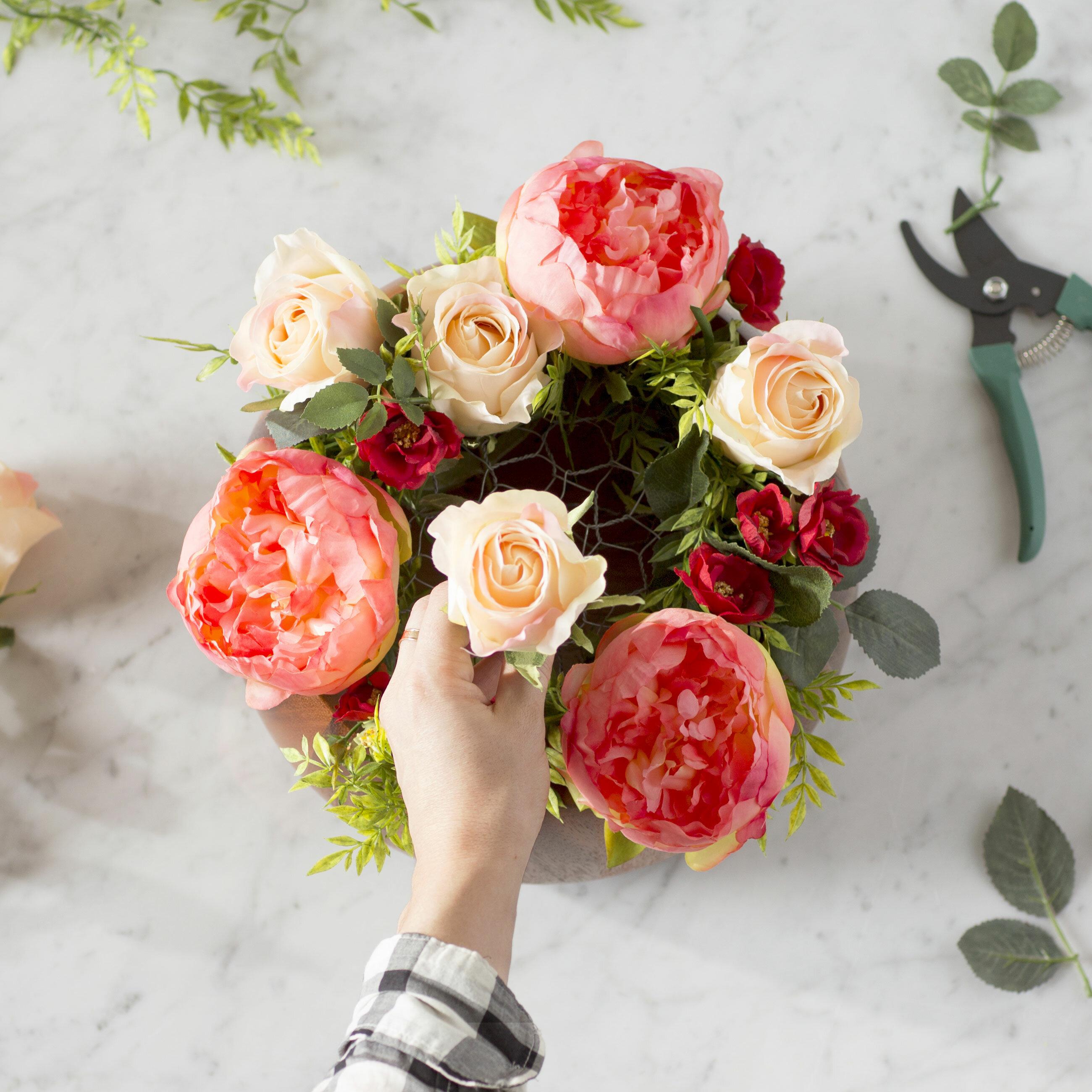 20 Minute Diy Faux Flower Arrangement