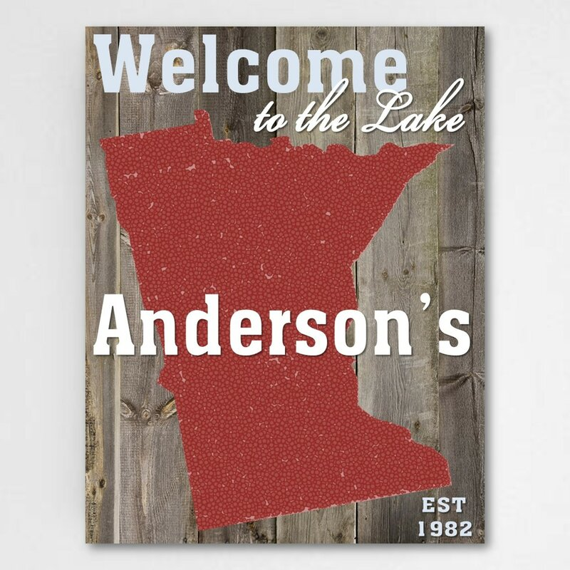 jds personalized gifts lake house state personalized graphic art on canvas wayfair wayfair