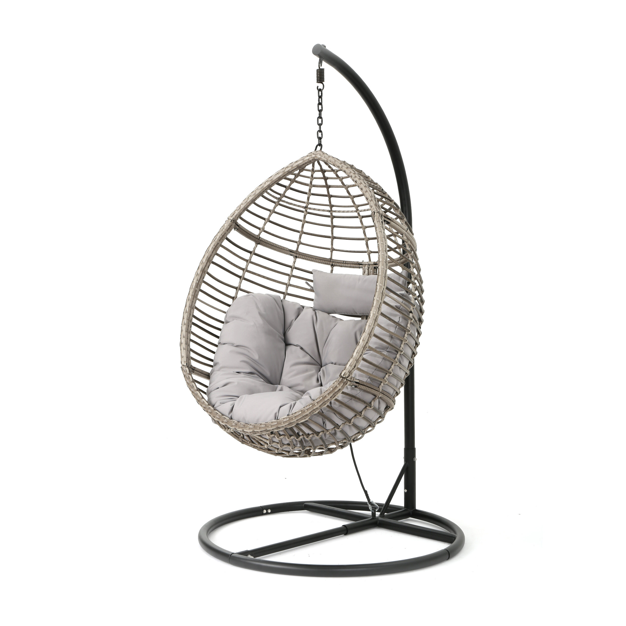 Weller Outdoor Wicker Basket Swing Chair With Stand Reviews Joss Main