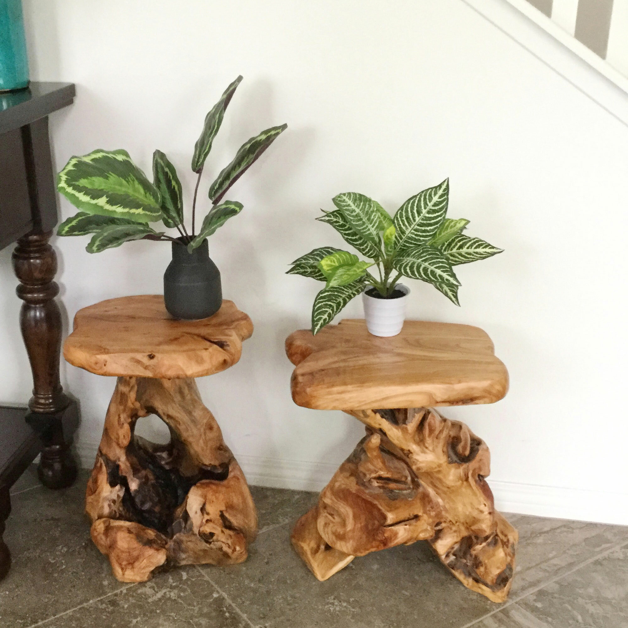 Foundry Select Gerrity Solid Wood Tree Stump End Table Reviews