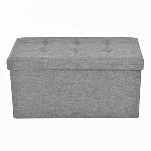 Leonora Folding Rectangular Storage Ottoman by Winston Porter