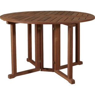 Folding Solid Wood Dining Table by Brayde..