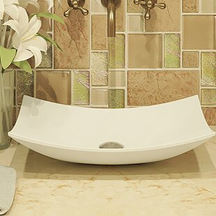 Affordable Price Classically Redefined Iris Ceramic Rectangular Vessel Bathroom Sink By DECOLAV