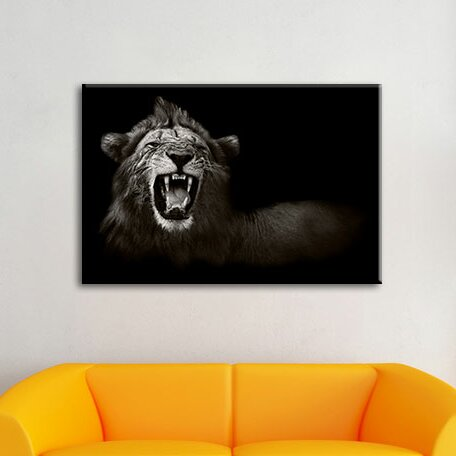 Roaring Lion Wall Art On Canvas