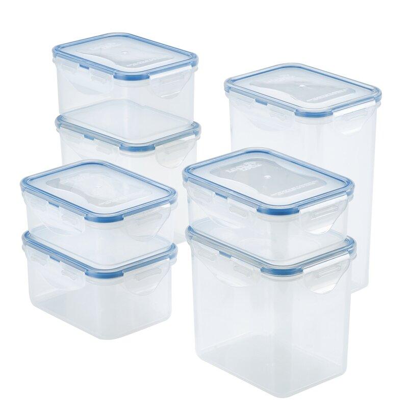 Lock Lock Easy Essentials Rectangular Food Storage Container Set 7 Piece Reviews Wayfair