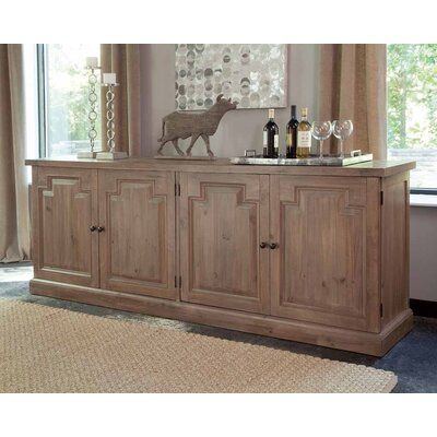 """Foundry Select Aceves 79.25"""" Wide Mahogany and Pine Wood Sideboard"""