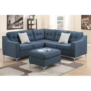 Almazan Symmetrical Sectional with Ottoman