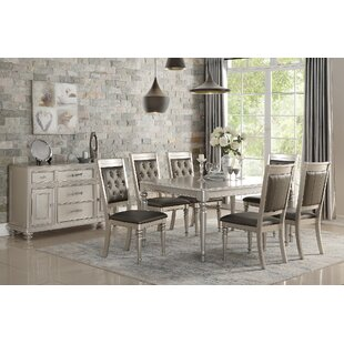Philippa 7 Piece Solid Wood Dining Set Rosdorf Park