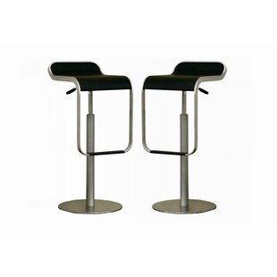 Spicer Adjustable Height Swivel Bar Stool (Set of 2) by Ebern Designs