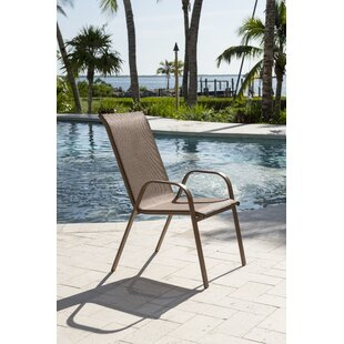 Caf? Stacking Patio Dining Chair by Panama Jack Outdoor