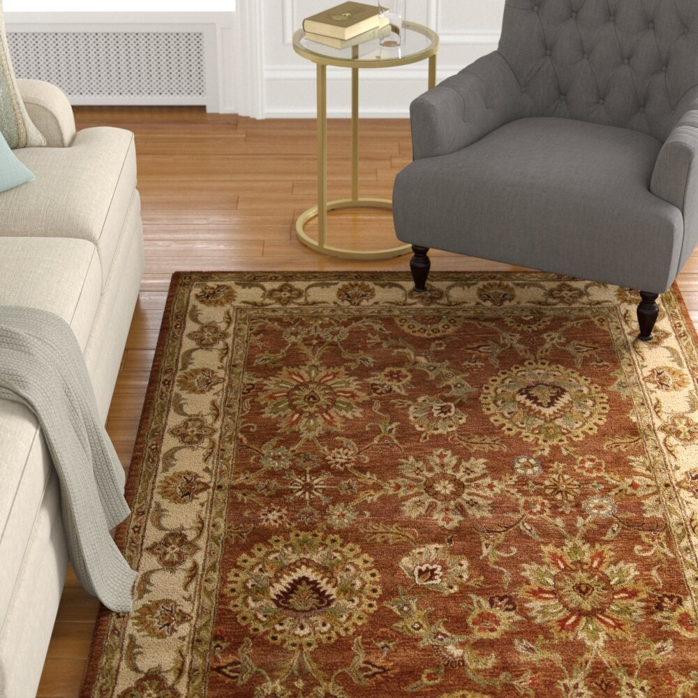 Darby Home Co Delaware Hand Tufted Wool Beige Brown Area Rug Reviews Wayfair