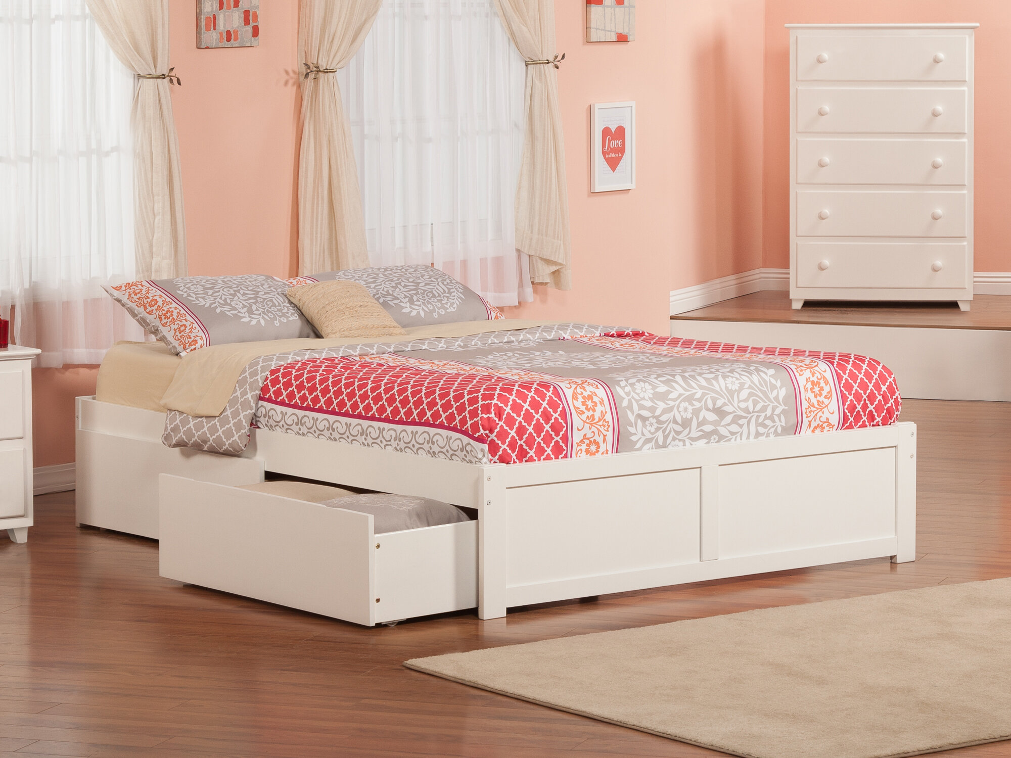 Picture of: Beachcrest Home Alayah Queen Storage Platform Bed Reviews