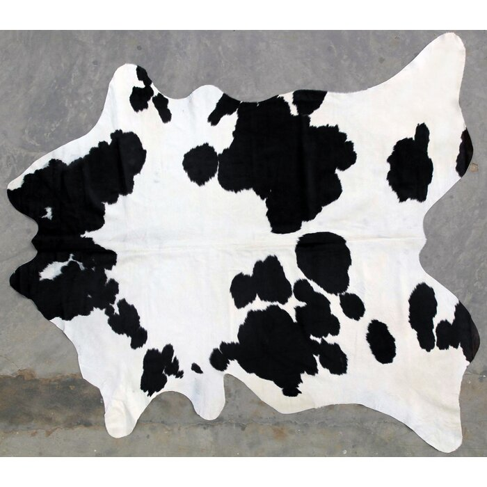 Natural Cowhide Black White Area Rug