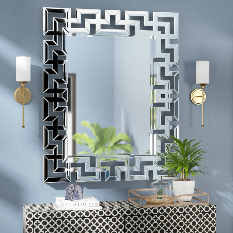 Rectangle Ornate Geometric Wall Mirror