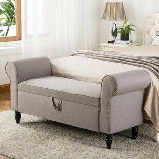 Charlton Home Valle Upholstered Storage Bench