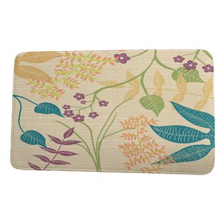 Nature Floral Yellow Gold Bath Rugs Mats You Ll Love In 2021 Wayfair