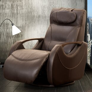 Isaac Leather Manual Swivel Recliner