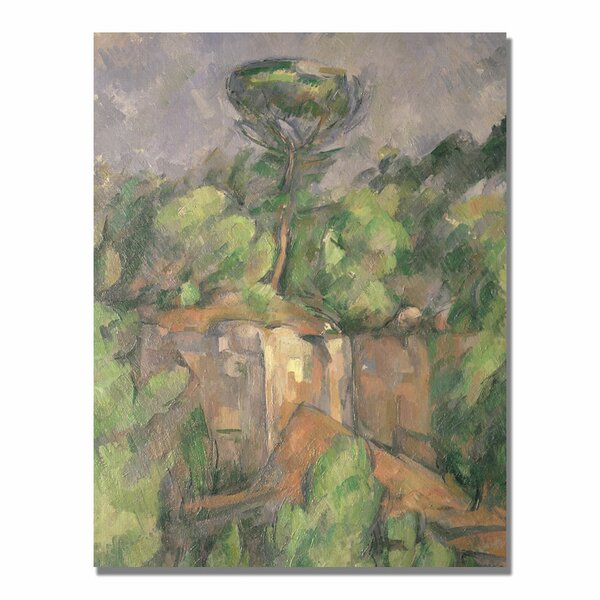 Vault W Artwork Bibemus Quarry By Paul Cezanne Painting Print On Canvas Wayfair