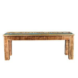 Natascha Wood Bench by Highland Dunes
