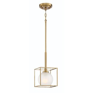 Chickasaw 1-Light Square Pendant by Mercer41