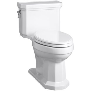 Kohler Kathryn Comfort Height Elongated One-Piece 1.28 GPF Toilet with Aquapiston Flush Technology, Left-Hand Trip Lever and Concealed Trapway
