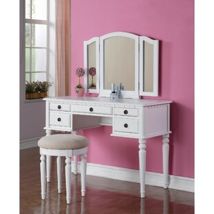 Darby Home Co Esquer Wooden Vanity Set