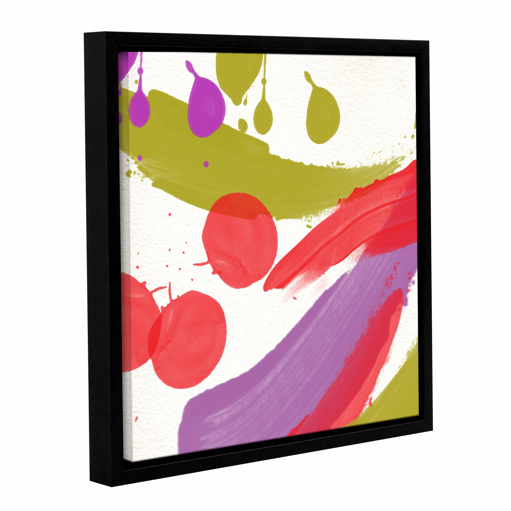 Latitude Run Organized Chaos Ii Framed Painting Print On Wrapped Canvas Wayfair