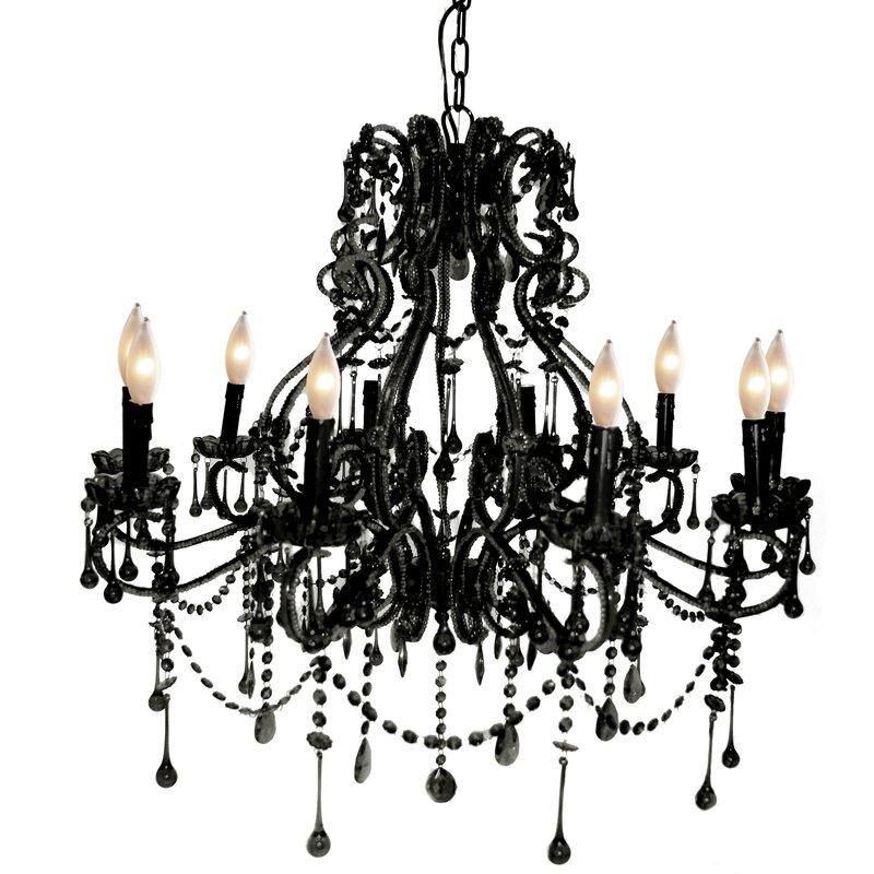 Pangea Home Isabella 10-Light Crystal Chandelier & Reviews | Wayfair