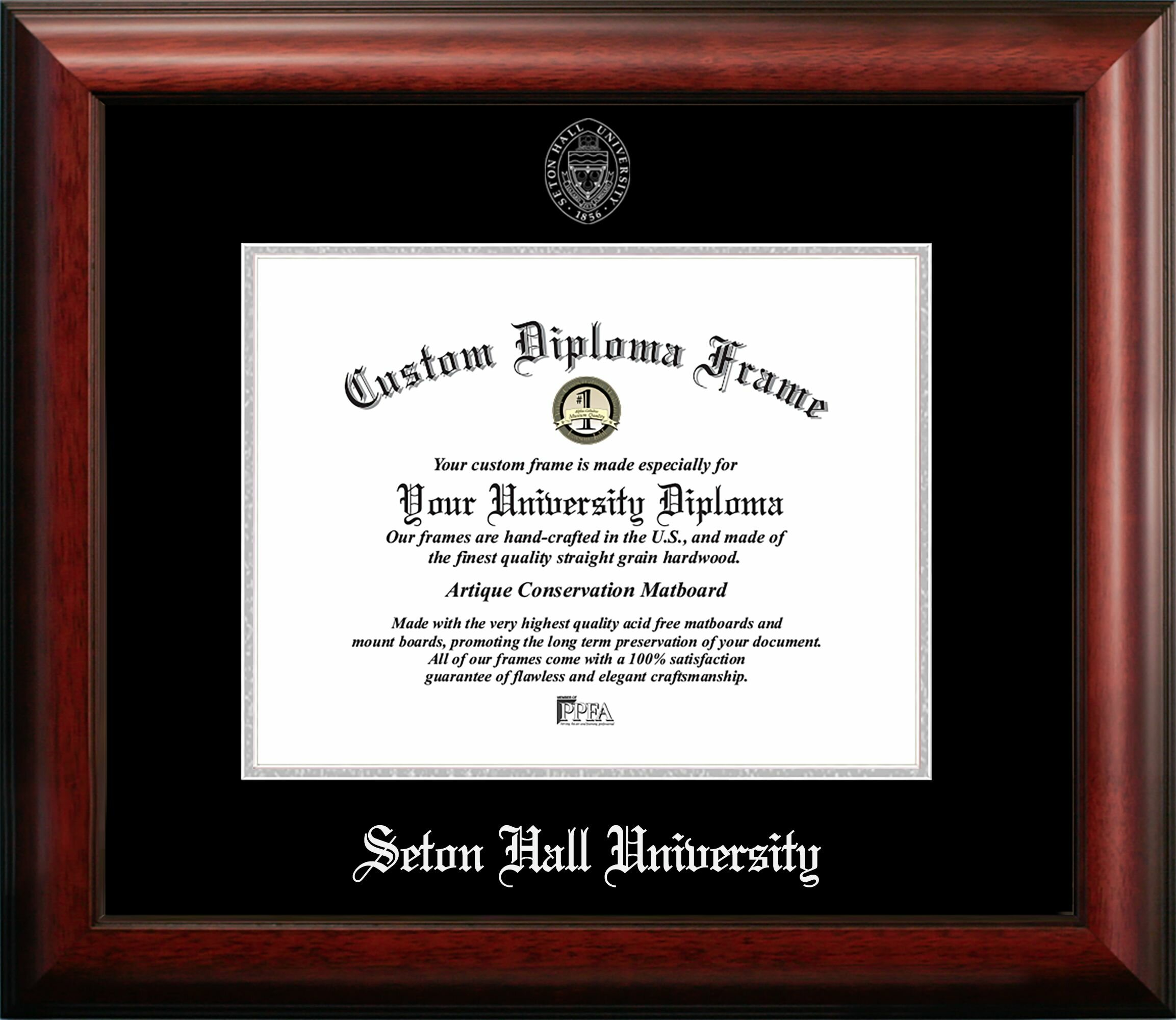 Campus Images Seton Hall Embossed Diploma Picture Frame Wayfair