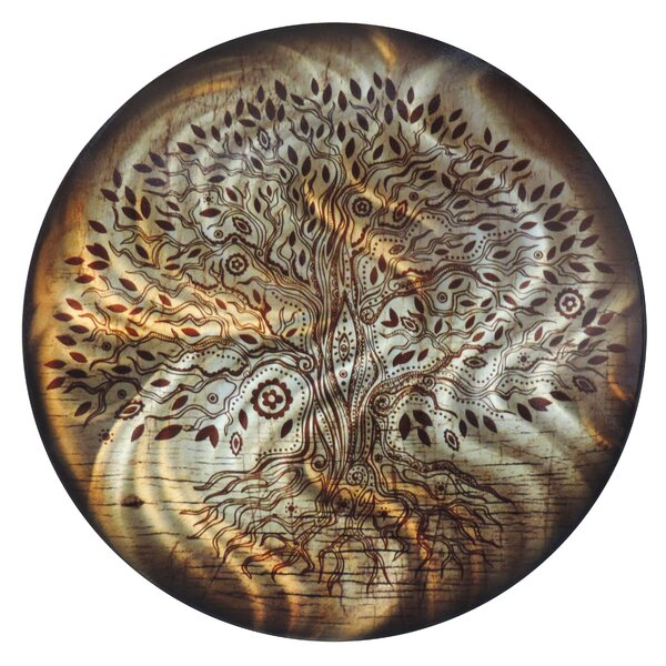 World Menagerie Round Tree Of Life Metal Wall Décor Reviews Wayfair