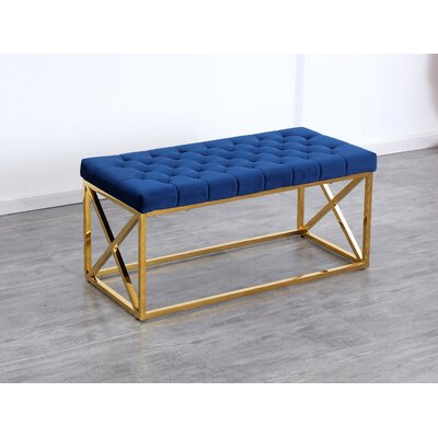 Groovy Mercer41 Genoa Velvet Upholstered Bench Color Gold Cjindustries Chair Design For Home Cjindustriesco