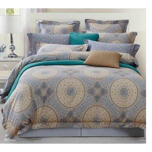 Bloomsbury Market Mckim Dots and Circles 220 Thread Count 100% Cotton Sheet Set