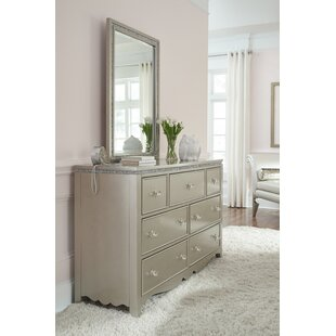 Burchfield 7 Drawer Dresser with Mirror