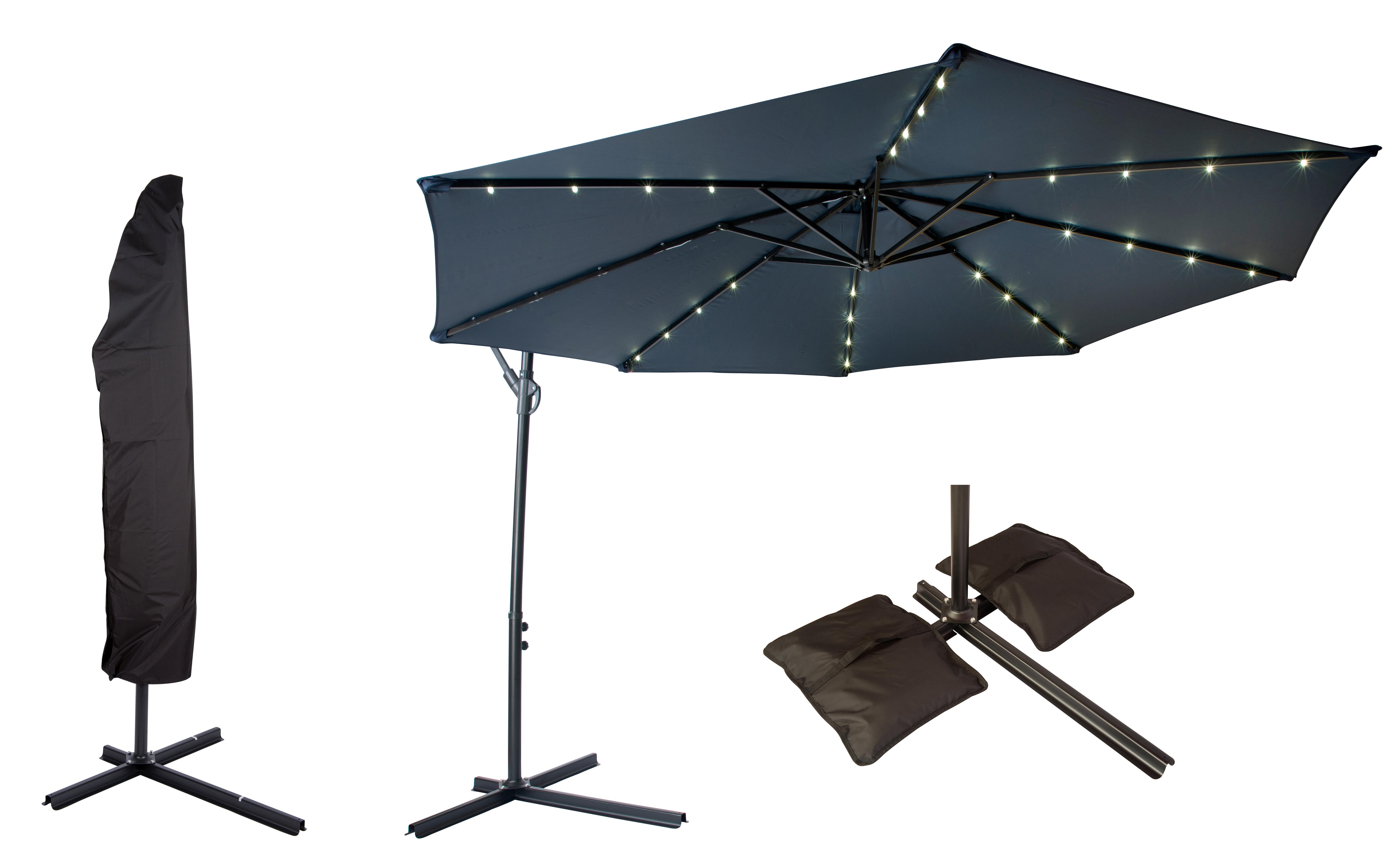 Trademark Innovations fset Patio 10 Cantilever Umbrella