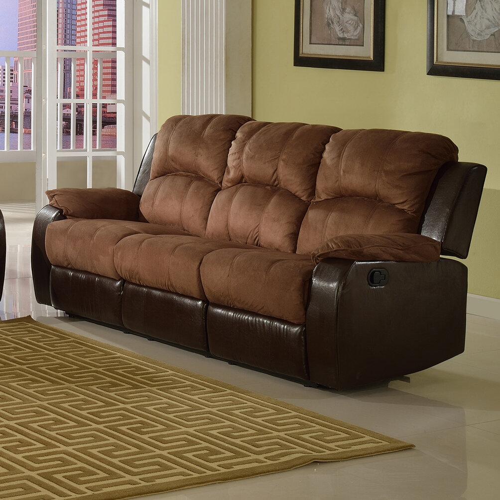 Beverly Fine Furniture Pamela Microsuede Reclining Sofa Reviews Wayfair