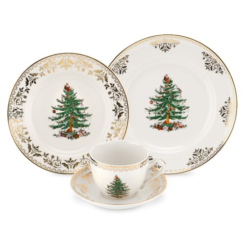 Christmas Tree Gold Place Setting from Wayfair!