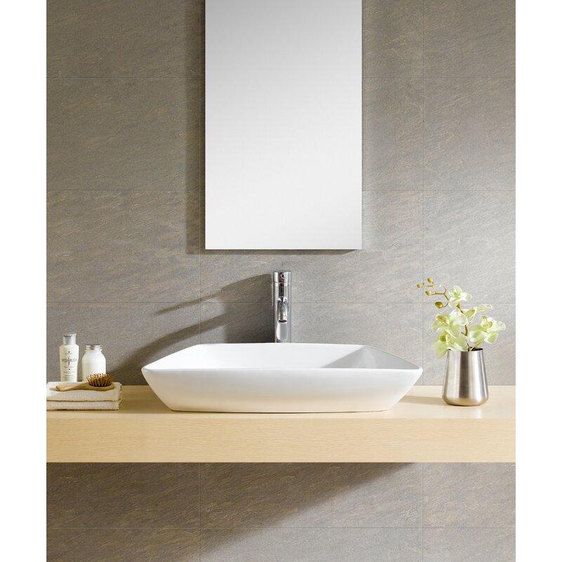 Modern Ceramic Specialty Single Hole Vessel Bathroom Sink