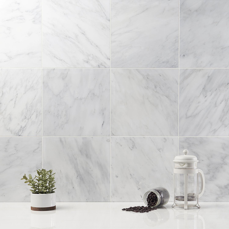 Ivy Hill Tile Oriental 12 X 12 Marble Field Tile In White Wayfair
