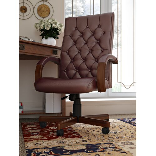 Drehstuhl | Büro > Bürostühle und Sessel  > Bürostühle | Burgunderrot | Holz | Home & Haus