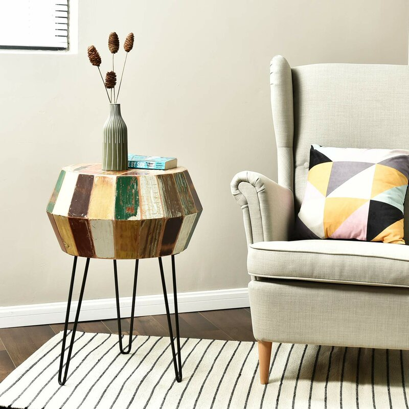Exceptionnel Seamans Reclaimed Wood End Table