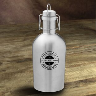 Brew Master Personalized 64 oz. Stainless Steel Growler