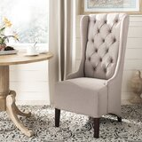 Bacall Linen Upholstered Parsons Chair in Taupe by Alcott Hill®