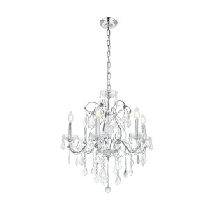 Rosdorf Park Thao 6-Light Candle Style Ch..
