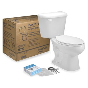 Mansfield Plumbing Products Pro-Fit 2 1.28 GPF Elongated Two-Piece Toilet