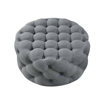 House of Hampton Mudge Round Tufted Cocktail Ottoman