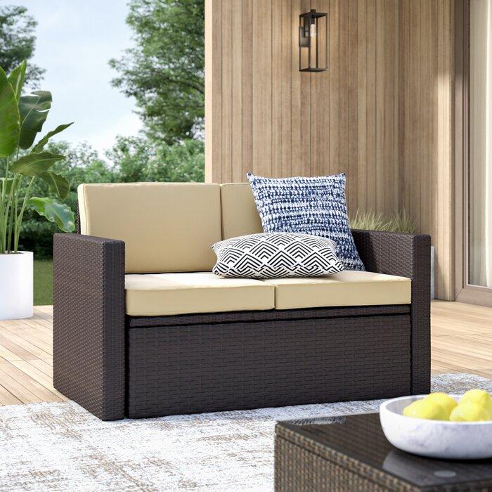 Fantastic Belton Loveseat With Cushions Creativecarmelina Interior Chair Design Creativecarmelinacom